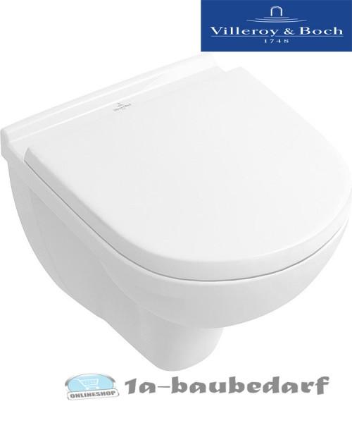 "Tiefspül Wand WC aus Keramik Combi-Pack ""O.Novo"" compact + WC- Sitz Villeroy&Boch"