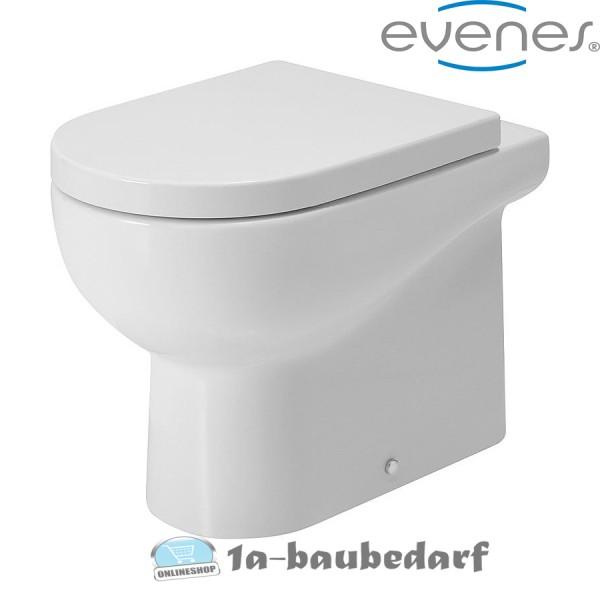 Tiefspül Stand WC aus Keramik Nuvola EVENES inkl. Befestigung