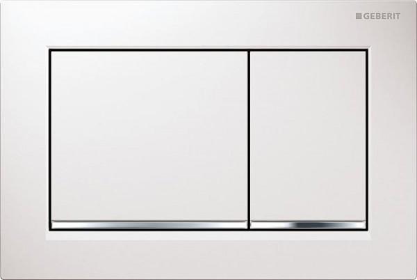 Gerberit Omega 30 weiß,hochgl. verchromt/weiß Betätigungsplatte
