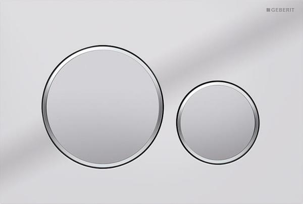 Geberit Sigma 20 glanzverchromt / mattverchromt glanzverchromt Betätigungsplatte