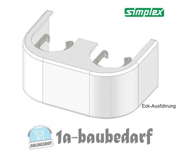 Design-Verkleidung weiß für Zweirohr-HB Eck