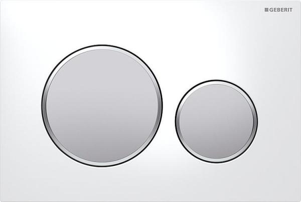 Geberit Sigma 20 weiß-mattverchromt-mattverchromt Betätigungsplatte