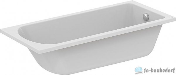 Körperform-Badewanne EMIL BxTxH:1800x800x465mm,Inhalt:295l Acryl,weiß