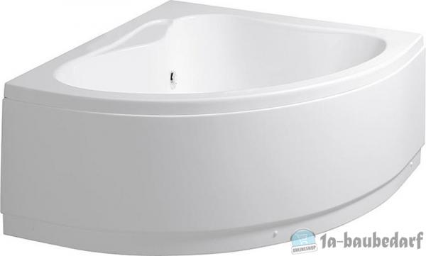 Eck-Badewanne EMBER BxHxT:1225x415x1225mm,Inhalt: 170l, Acryl