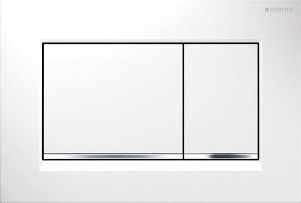 Gerberit Sigma 30 weiß/verchromt/weiß Betätigungsplatte