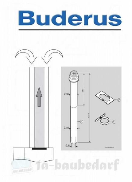 Grundbausatz DO schwarz, konzentrisch Abgassystem Buderus