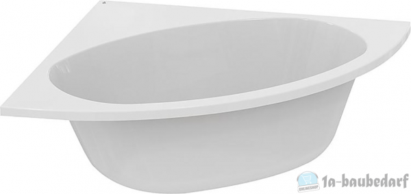 Eck-Badewanne EPUK BxHxT:1400x465x1400mm, Inhalt: 250l, Acryl