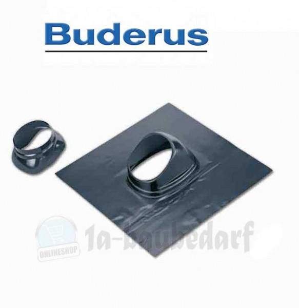 Schrägdachpfanne Dachziegel für Abgasrohr Buderus DN80/125 sw 25-45 Grad