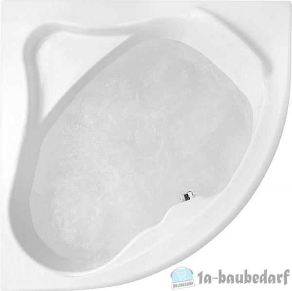 Eck-Badewanne EMBER BxHxT:1350x415x1350mm, Inhalt: 230l, Acryl