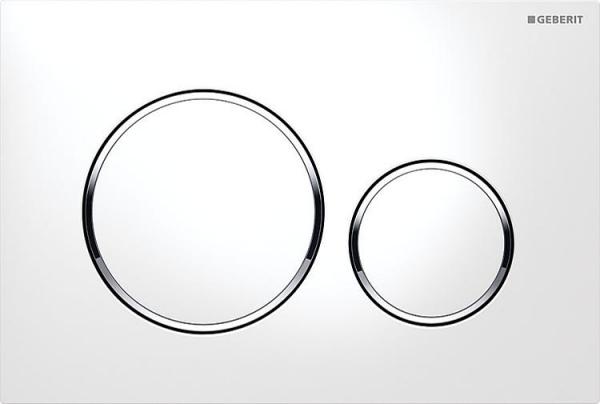 Gerberit Sigma 20 weiß/verchromt/weiß Betätigungsplatte